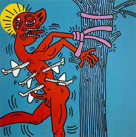 Keith Haring, St. Sebastian