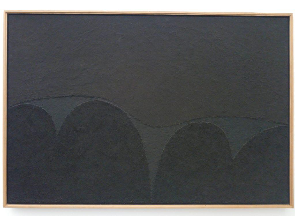 Alberto Burri, Nero Mi n. 5, 1989, Robilant + Voena, Frieze Masters, Regent's Park