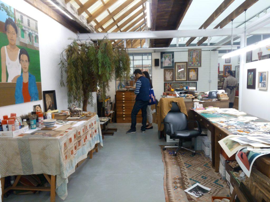 Peter Blake's studio, Frieze Masters, Regent's Park
