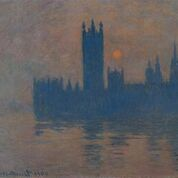 Houses of Parliament, Sunset 1904Oil paint on canvas 810 x 920 mm Kaiser Wilhelm Museum