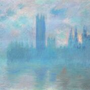 Houses of Parliament c.1900 Oil paint on canvas 812 x 928 mm Art Institute of Chicago