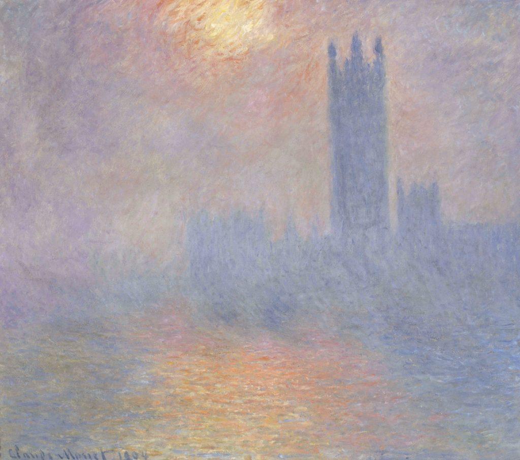 Londres, le Parlement. Trouée de soleil dans le brouillard 1904Oil paint on canvas 815 x 925 mm Musée d'Orsay