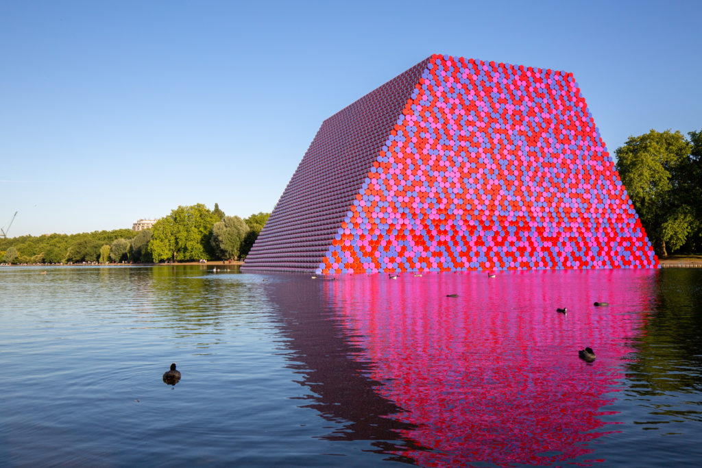 Christo's Mastaba, Serpentine Lake, London, June 2018. Ph: Andrea Flisi