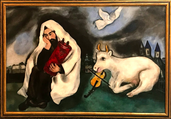Marc Chagall, Solitude, 1933 Oil on canvas, 102×169 cm Gift of the artist, 1953 © ADAGP, Paris, 2019
